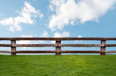 Ein Zaun als Hürde